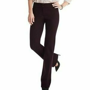 Pants - NWT LOFT Marisa Fit Bootcut Trousers Plum Size